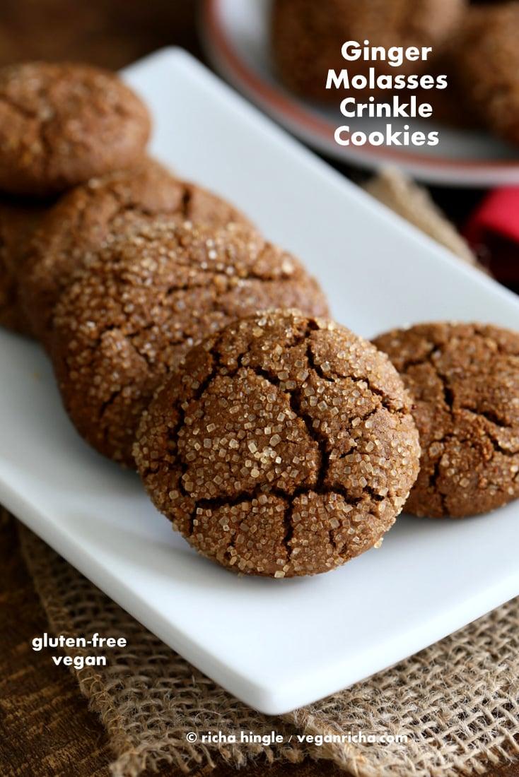 Vegan Gluten free Ginger Molasses Cookies | Vegan Richa