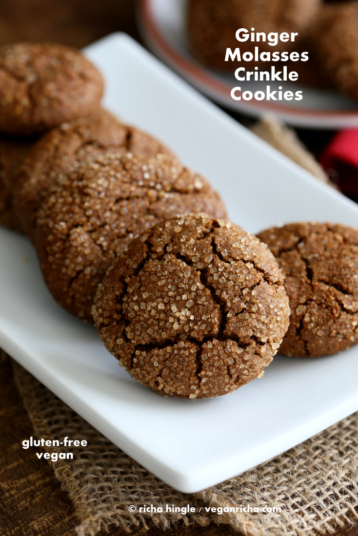 Gluten free Ginger Molasses Cookies   Vegan Richa