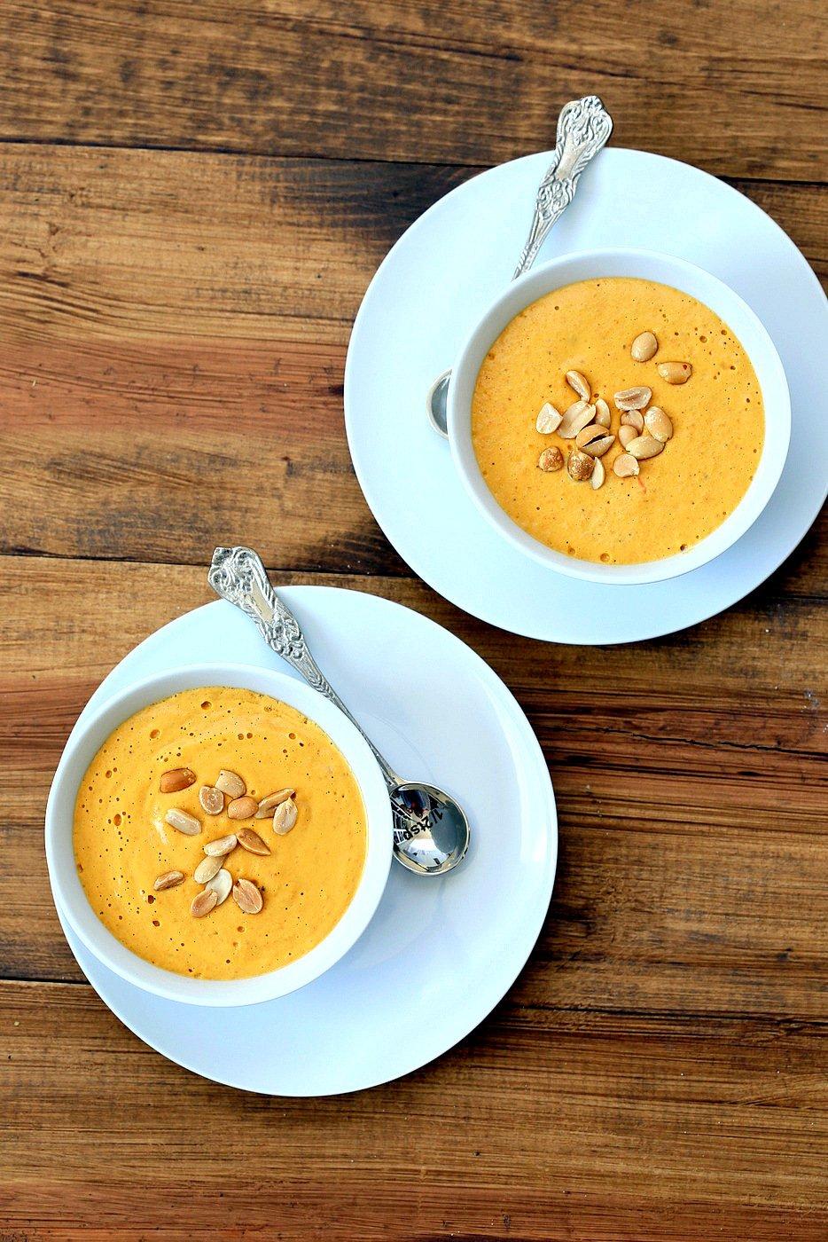 Vegan Carrot Peanut Soup | Vegan Richa