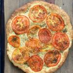 Whole Grain Za'atar Tomato Flatbread for Virtual Vegan Potluck 2014!