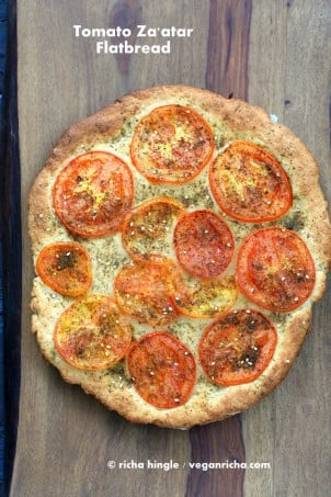 Tomato Zatar Flatbread | Vegan Richa