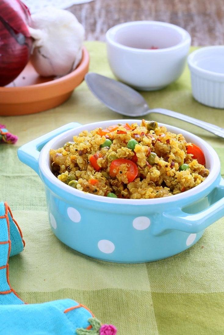 South Indian Quinoa with tamarind | Vegan Richa
