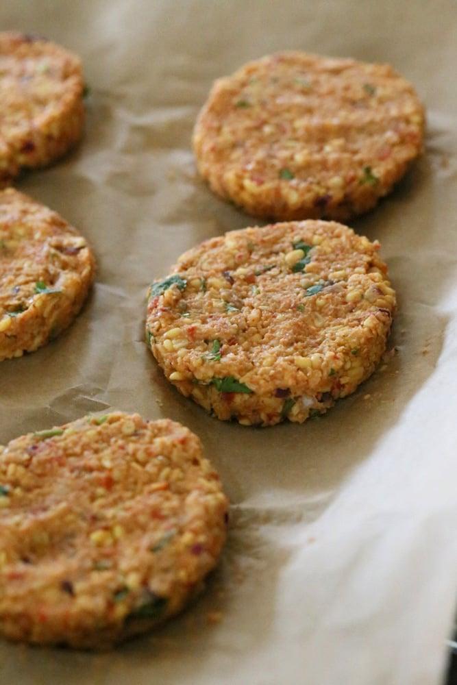 Spicy Chickpea Lentil Burger   Vegan Richa