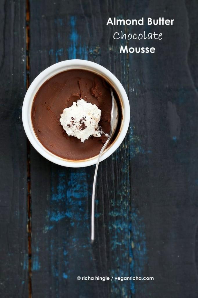 Almond Butter Chocolate Mousse | Vegan Richa