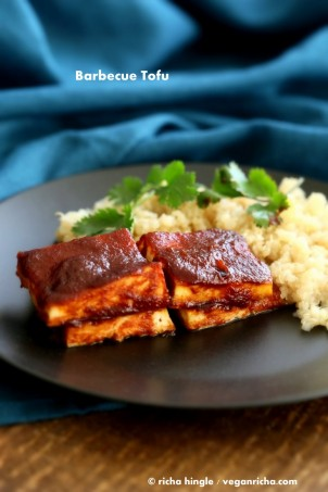 Barbecue Tofu | Vegan Richa #glutenfree #veganricha #vegan