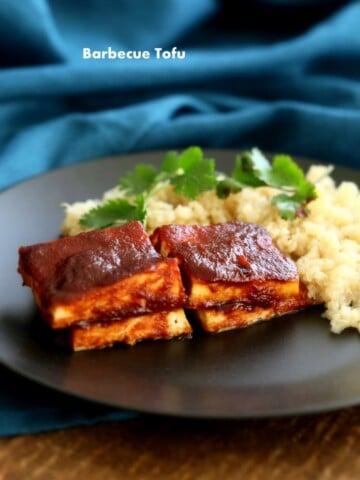 Barbecue Tofu   Vegan Richa #glutenfree #veganricha #vegan