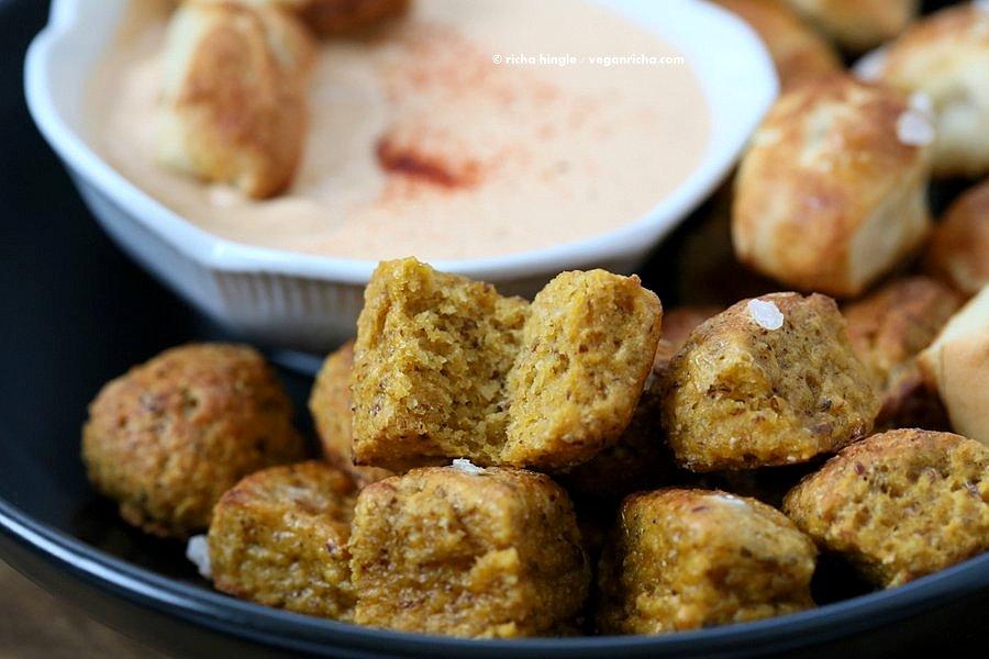Gluten free Vegan Pretzel Bites | Vegan Richa