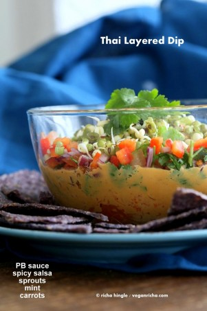 Thai Layered Dip. Vegan Recipe
