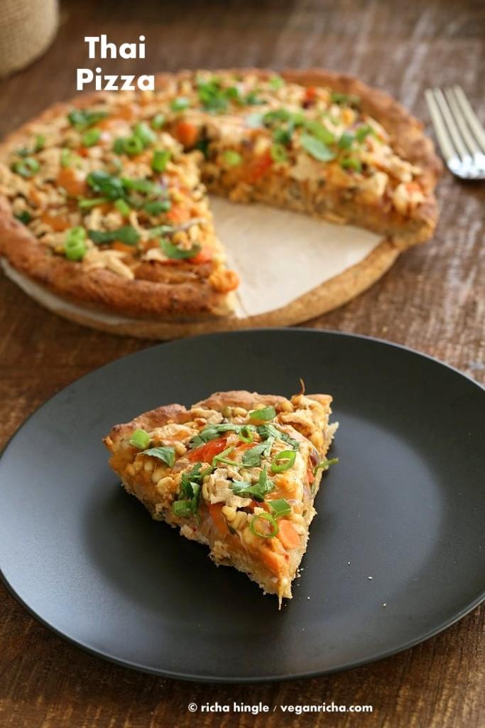 Vegan Thai Pizza GF Crust | Vegan Richa