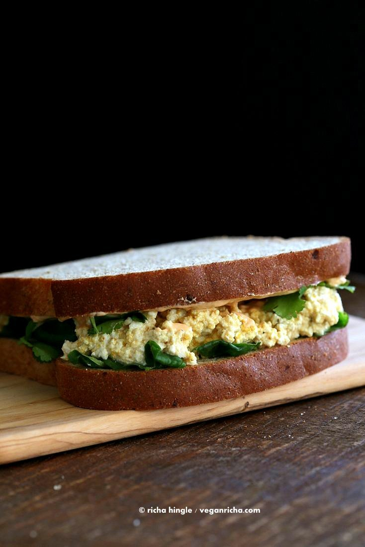 tofu egg salad sandwich allergen information free of dairy egg