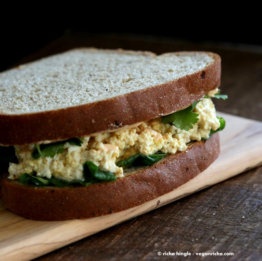 Tofu Egg Salad Sandwich | Vegan Richa