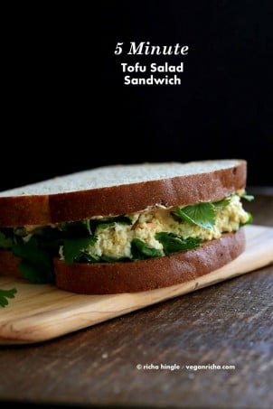 Tofu Egg Salad Sandwich | Vegan Richa #vegan #glutenfree #veganricha