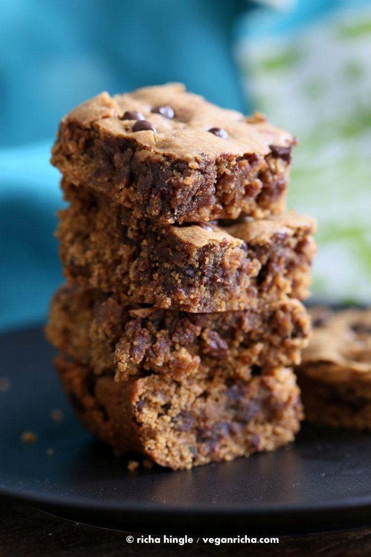 Vegan Almond Butter Blondies | Vegan Richa