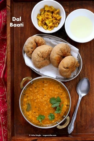 Dal Baati – Pigeon Pea Soup with Stuffed Pastries.