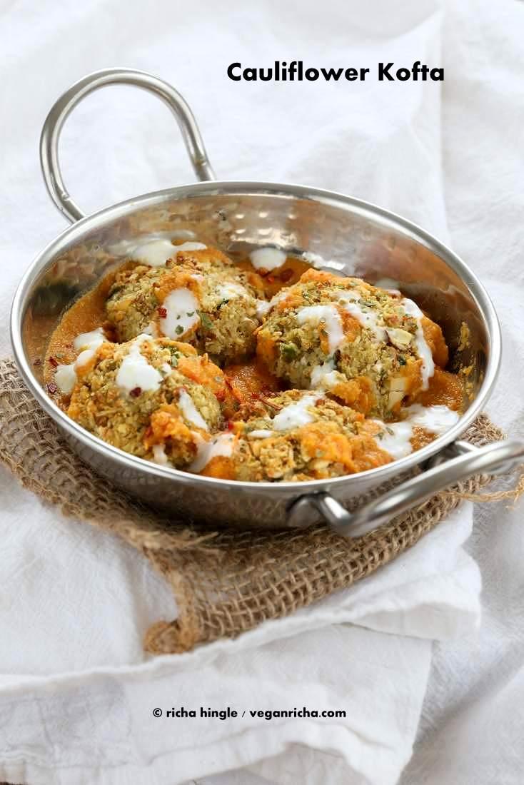 ... Cauliflower Veggie Balls in Spiced Tomato Onion Sauce. Vegan Recipe