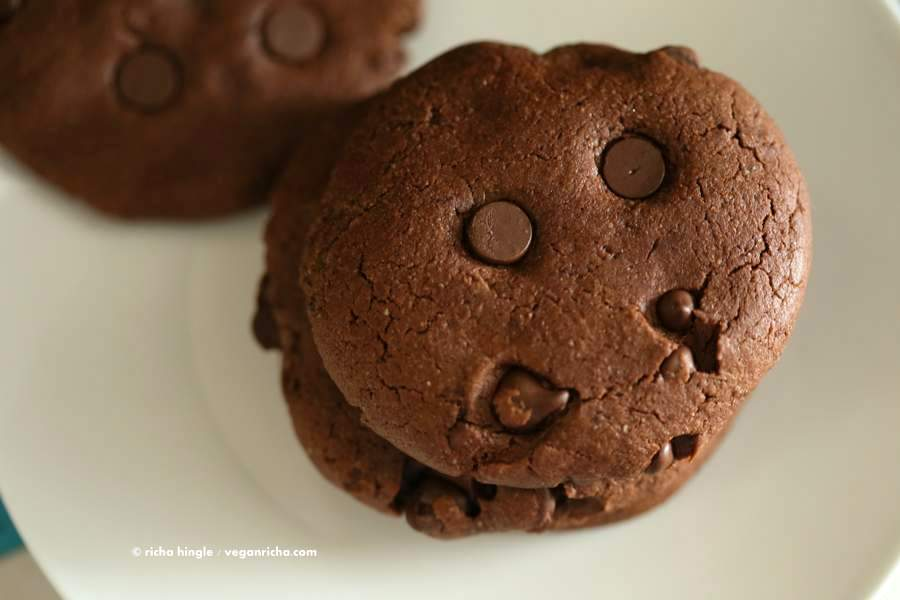 Vegan Double Chocolate Chip Cookies | Vegan Richa