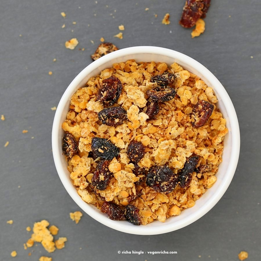 Red Lentil Granola | Vegan Richa