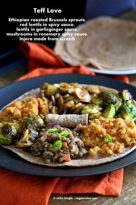 Teff Love - Ethiopian Food #glutenfree #veganricha #vegan