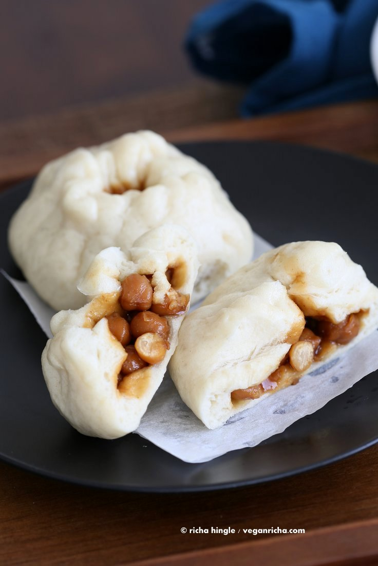 Teriyaki chickpea Bao steamed bun | Vegan Richa