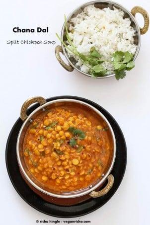 Easy Chana Dal Recipe. Split Chickpea Soup