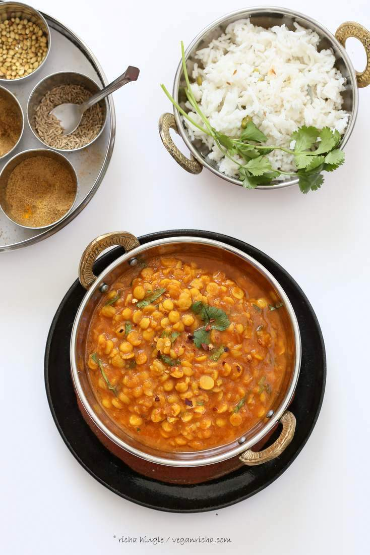 Easy Chana Dal - Split Chickpea soup| Vegan Richa