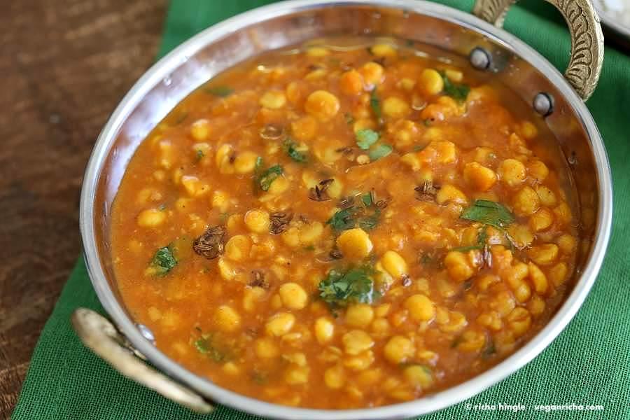 Easy Chana Dal - Split Chickpea soup| Vegan Richa
