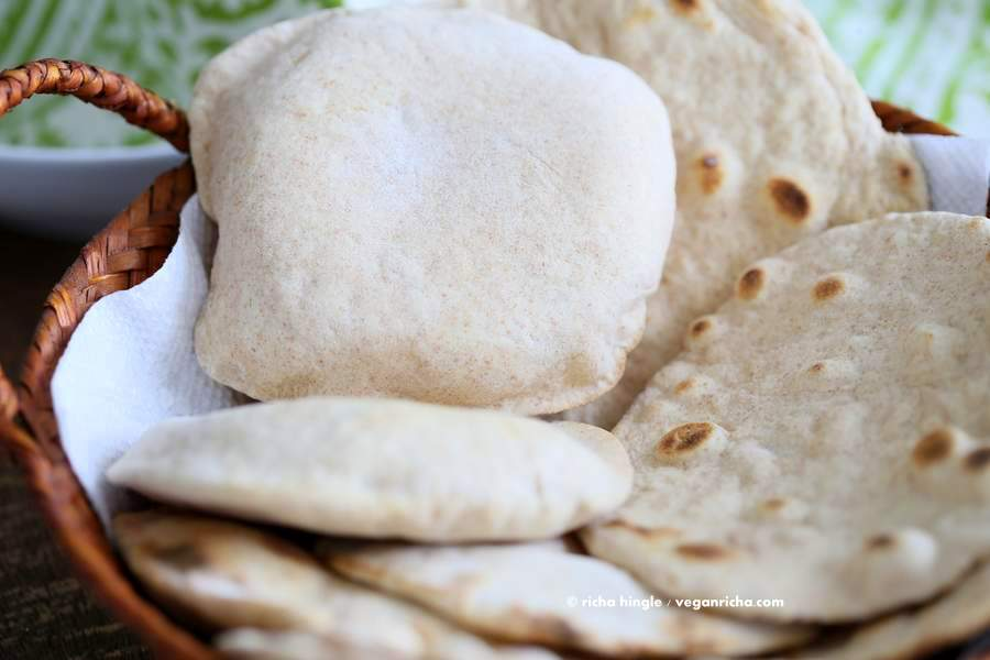 Vegan Yeast free Flatbread and Pita bread - Vegan Richa