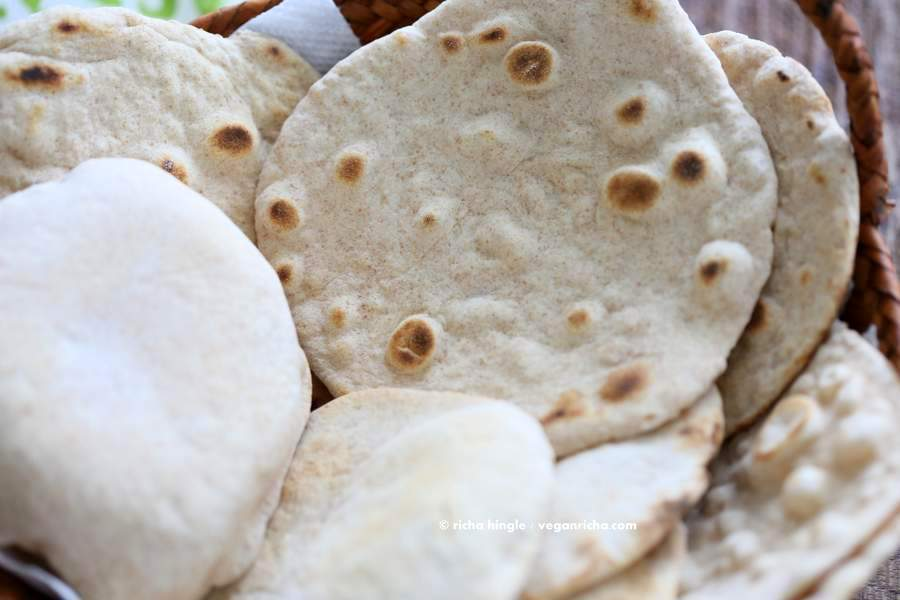 Vegan Yeast free Flatbread | Vegan Richa