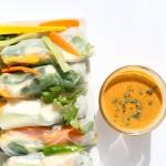 Mango Summer Rolls with Makhani dipping sauce   Vegan Richa