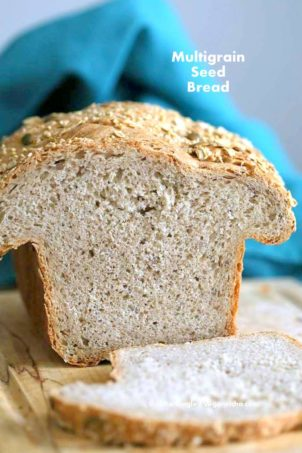 Whole Grain Seed Bread Recipe | Vegan Richa #glutenfree #veganricha #vegan