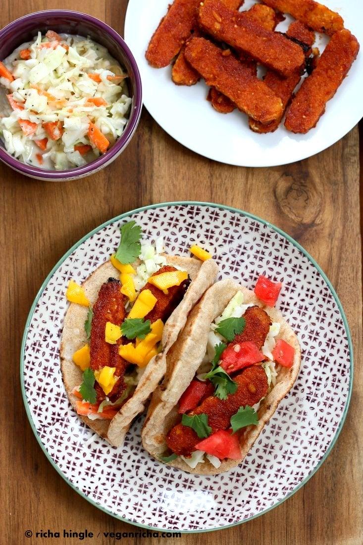Sriracha BBQ Baked Tempeh Wraps | Vegan Richa