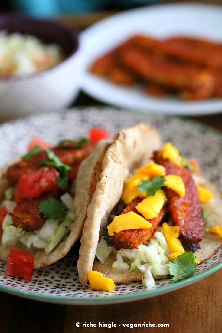 Sriracha BBQ Baked Tempeh Wraps   Vegan Richa