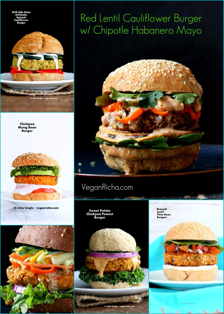 Vegan July 4th Burger Recipes | Vegan Richa #vegan #july4 #burgers