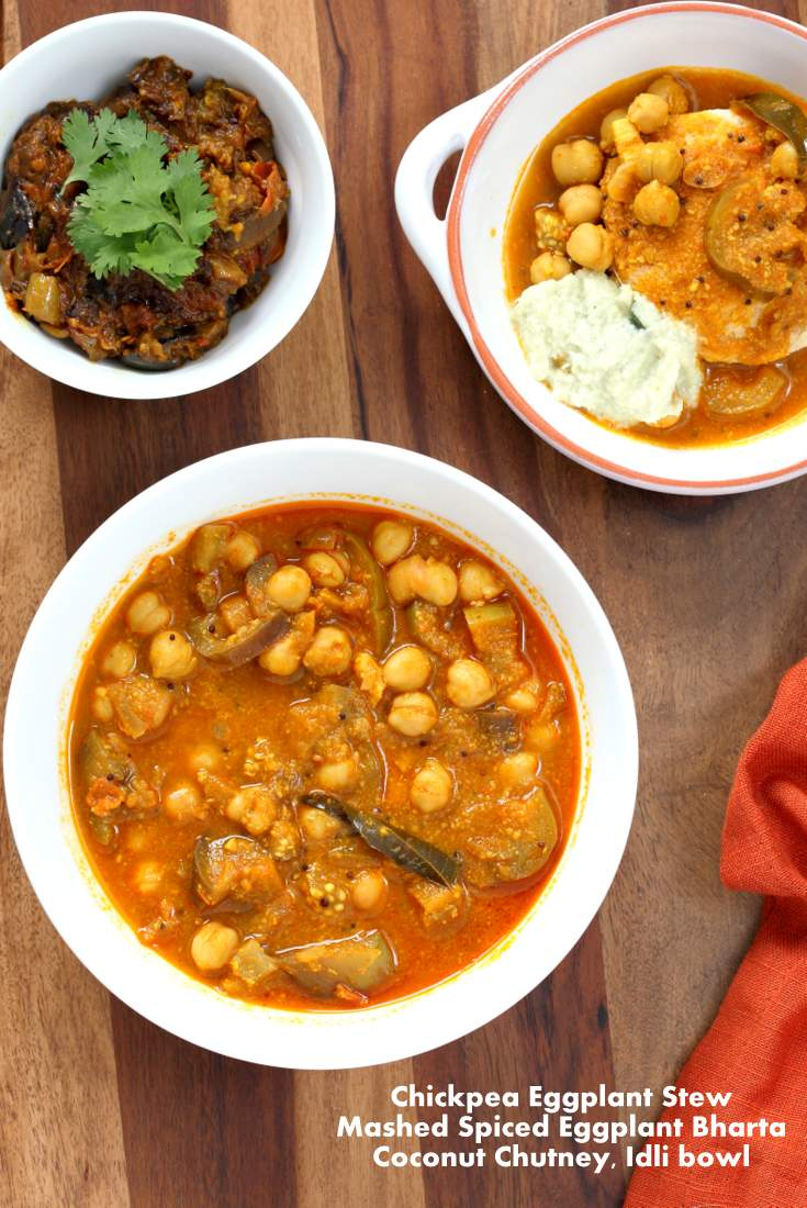 Chickpea Eggplant Stew from Vegan Richas Indian Kitchen