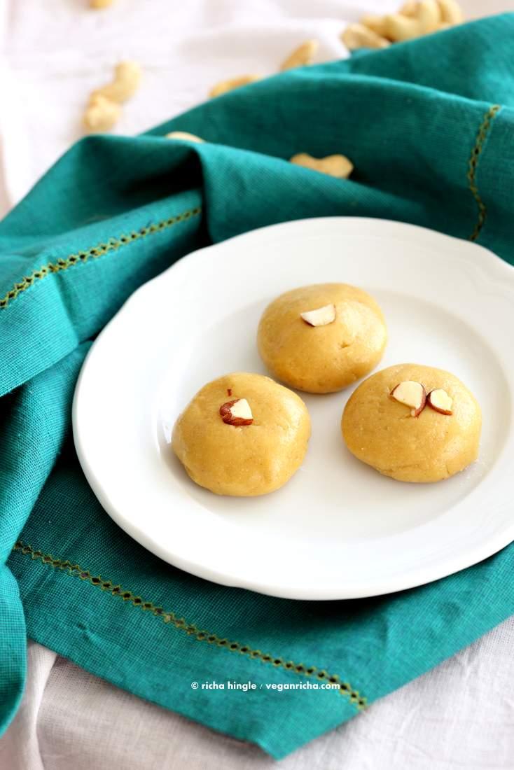 Malai Peda from Vegan Richa's Indian Kitchen
