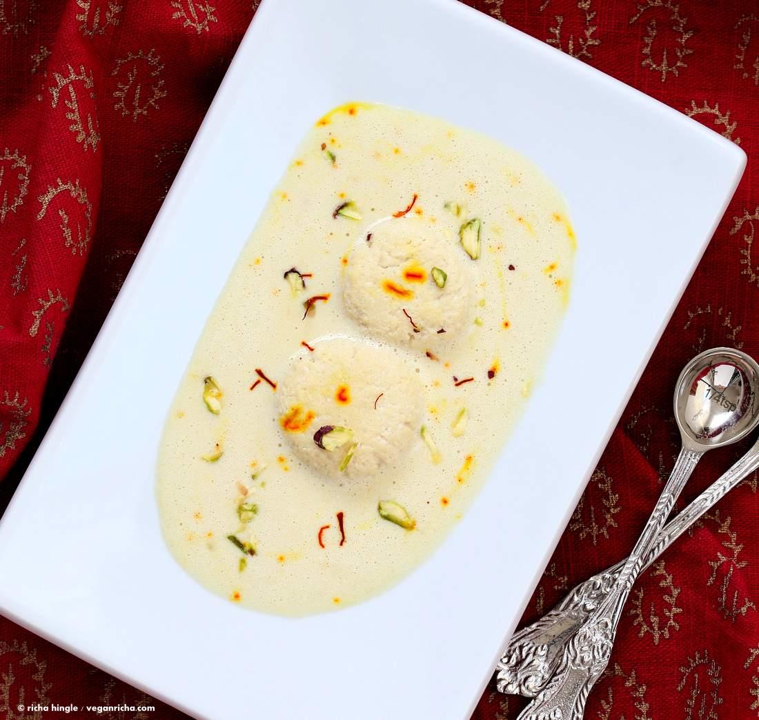 Rasmalai from Vegan Richa's Indian Kitchen