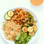 Masala Chickpea Bowl with Chana masala Spice Chickpea Dressing | Vegan Richa