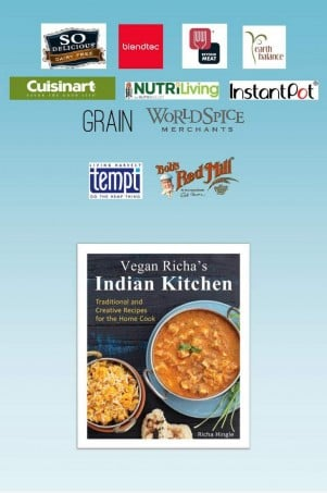 Vegan Richa's Indian Kitchen Book Launch: $6,000 in Gifts till we run out!!! or June 1