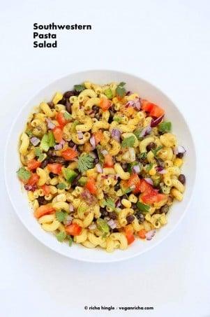 Southwestern Pasta Salad | Vegan Richa #glutenfree #veganricha #vegan