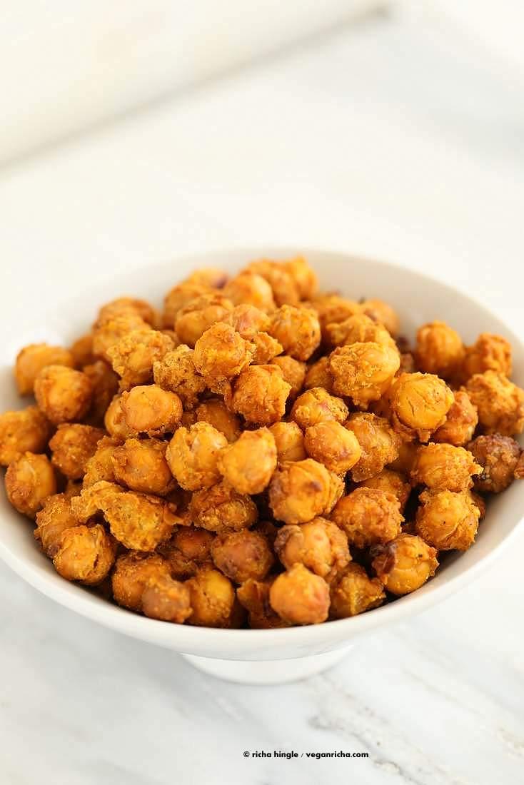 Roasted Masala Chickpeas   Vegan Richa