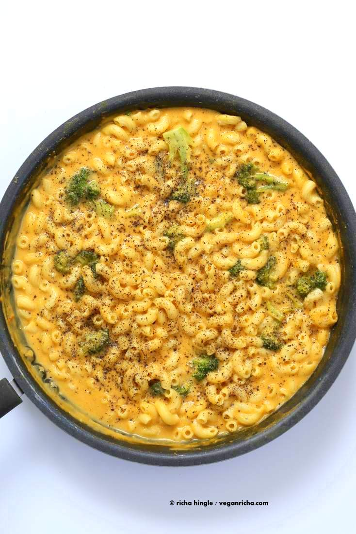 Vegan Black Pepper Mac and cheese | Vegan Richa #vegan #macncheese #nutfree