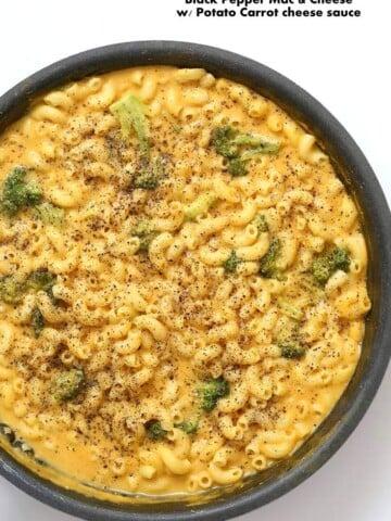 Vegan Black Pepper Mac and cheese | Vegan Richa #vegan #macncheese #nutfree #veganricha