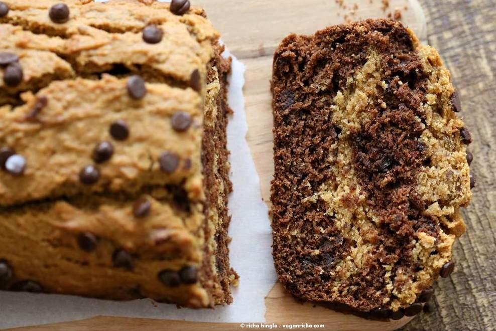 Peanut Butter Chocolate Marble Cake   Vegan Richa #vegan #peanutbutter #chocolate #cake