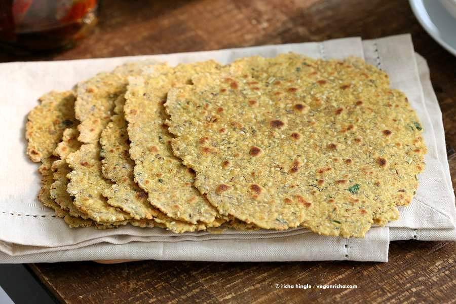 Methi Thepla - High Protein Savory Herbed Flatbread | Vegan Richa