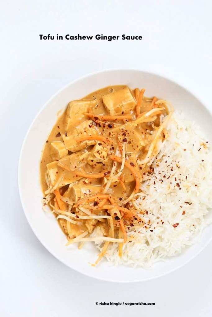 Tou in Cashew Ginger Sauce