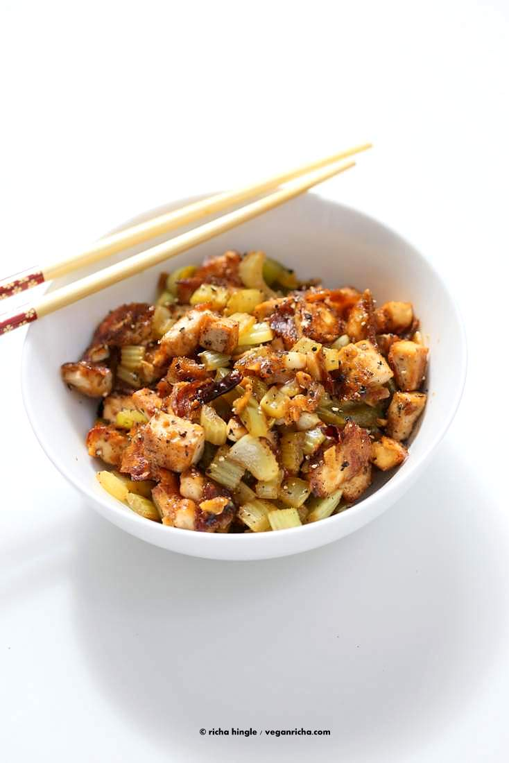 Celery Black Pepper Tofu | Vegan Richa #vegan #glutenfree