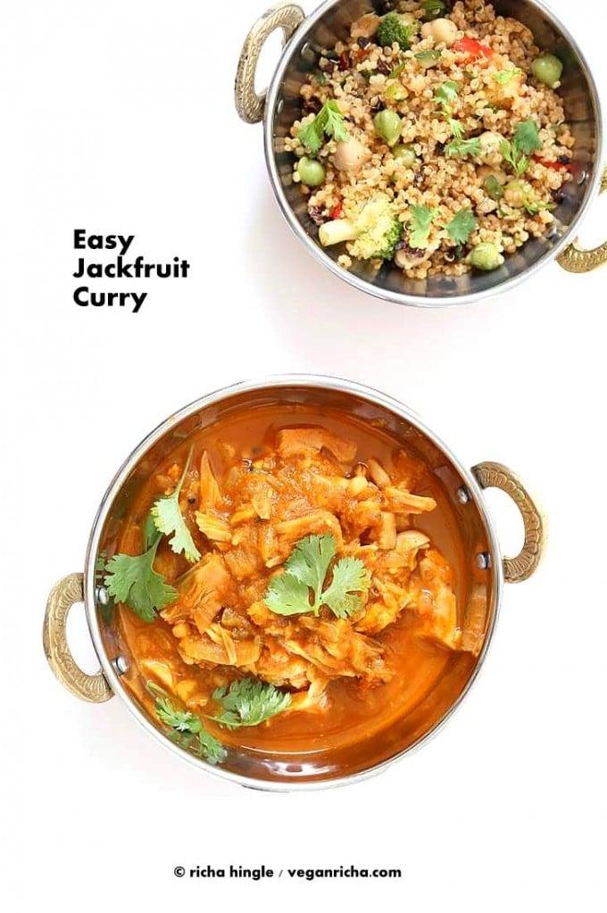Easy Jackfruit Curry   Vegan Richa