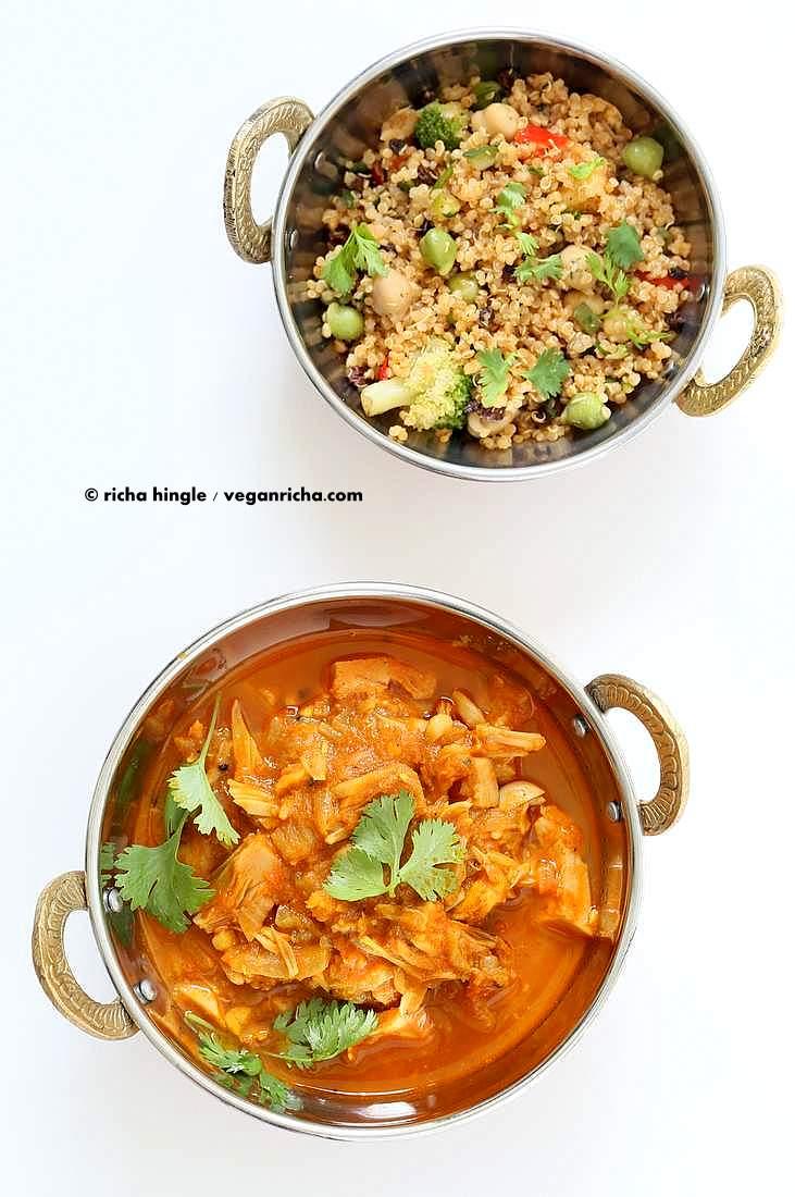 Easy Jackfruit Curry | Vegan Richa