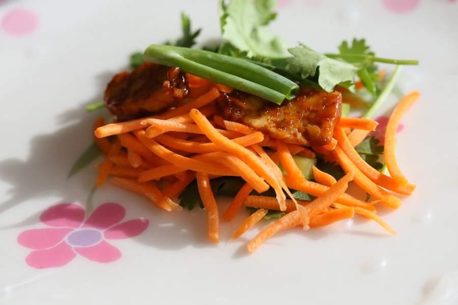 Red Curry Tempeh Summer Rolls   Vegan Richa