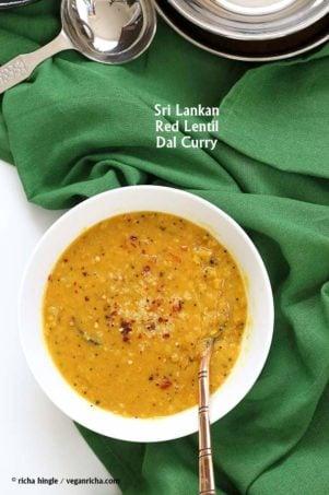 Sri Lankan Red Lentil Coconut urry #vegan #veganricha